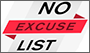 No Excuse List